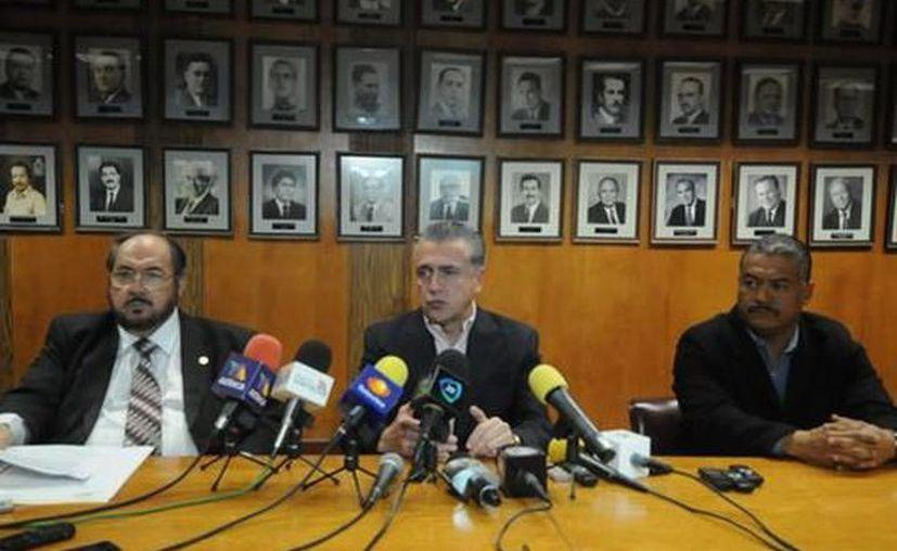 Conferencia de prensa para dar a conocer los avances en la investigación del múltiple homicidio en Juárez. (Juan García/SIPSE)
