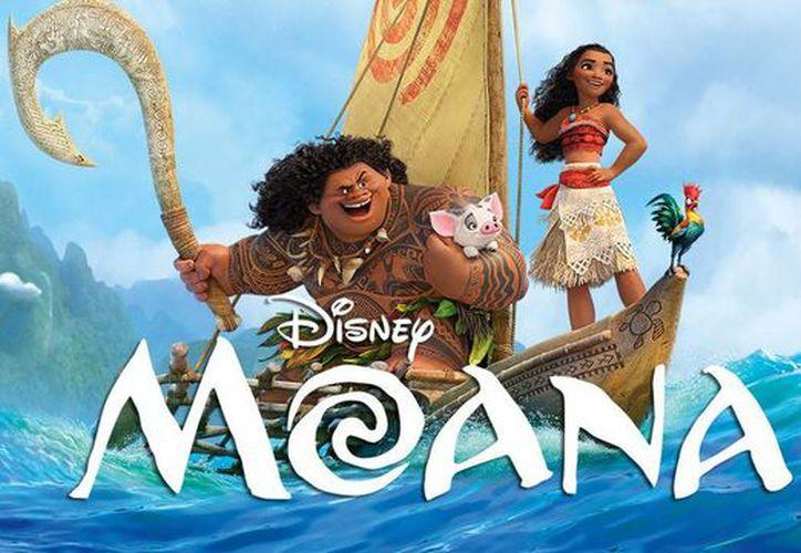 La película de Disney, Moana, se mantuvo por segunda semana consecutiva en el primer lugar de la taquilla en cines de Estados Unidos. (Agencias/Archivo)