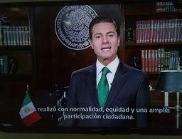 Peña Nieto reconoce triunfo de AMLO y pide unidad a mexicanos