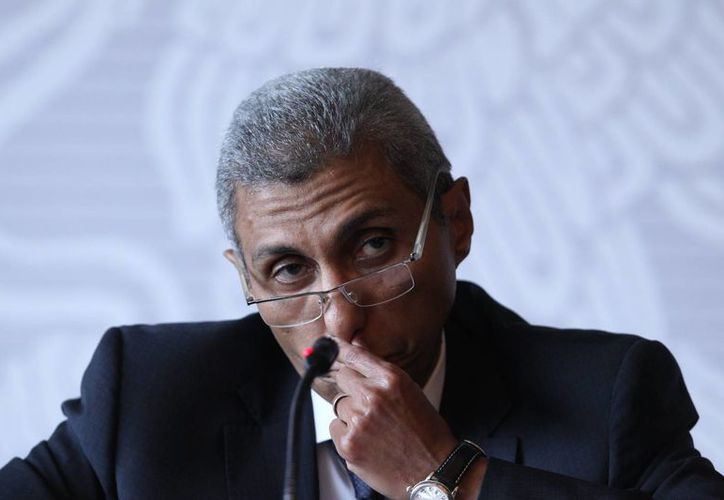 Imagen del embajador de Egipto en México, Yasser Shaban, durante una conferencia de prensa en la sede de la cancillería de la capital mexicana. (Archivo/EFE)
