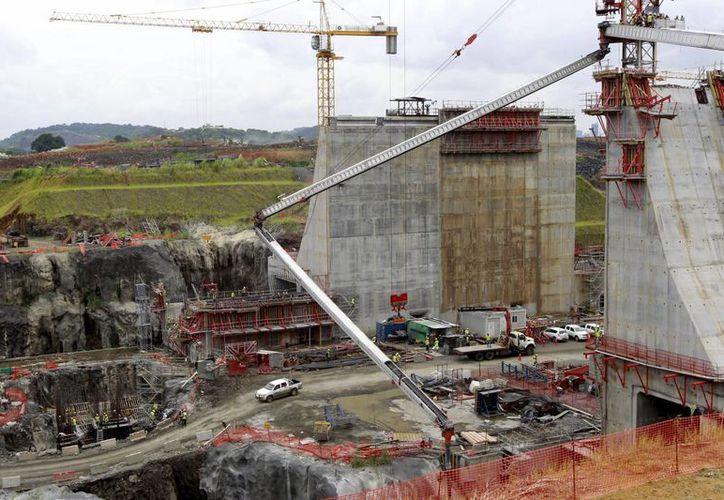 Vista de las obras de ampliación del Canal de Panamá. (EFE/Archivo)