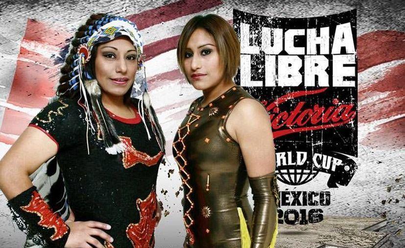 Las hermanas Faby y Mary Apache brindará una batalla sinigual en la historia de la lucha libre mexicana pues se enfrentarán a hombres en la Arena México. (letrarojas.com)