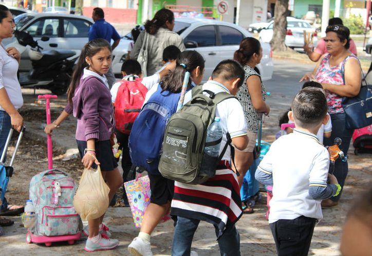 Los alumnos desde educación especial hasta nivel superior regresarán a las aulas el lunes 9 de abril. (Joel Zamora/SIPSE)