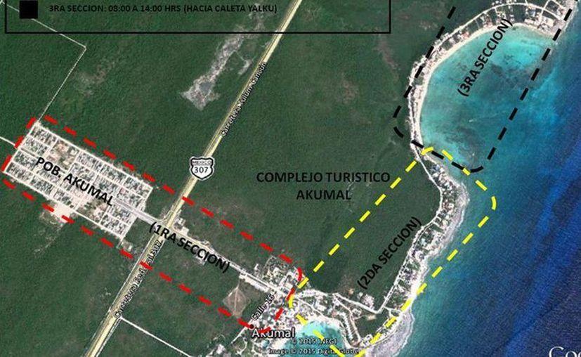El poblado fue dividido en tres secciones para dar atención a la red de media tensión. (Cortesía)