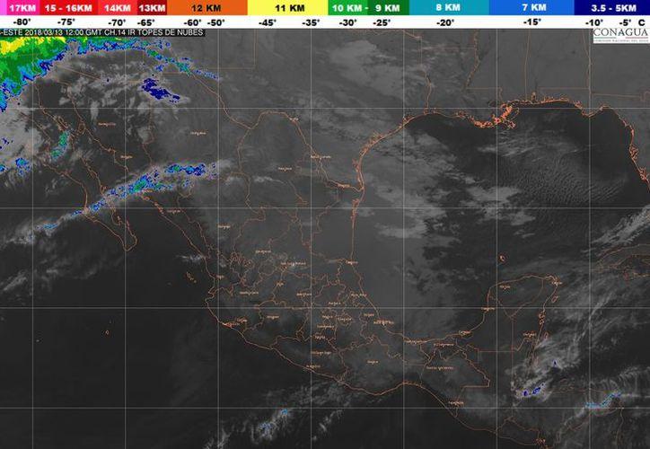 El Frente frío No. 36, se extenderá sobre la Península de Yucatán. (Conagua)