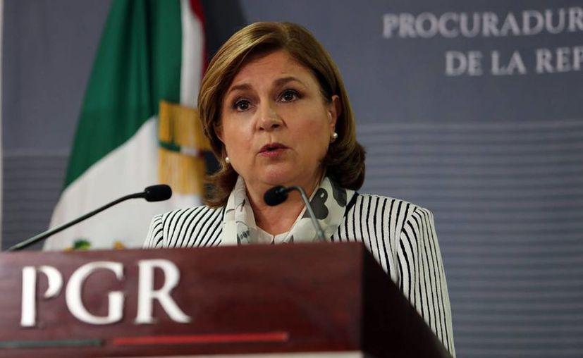 La procuradora general de la República, Arely Gómez, hablará en breve sobre los nuevos avances en el caso de la desaparición de 43 normalistas de Ayotzinapa, Guerrero. (Cortesía PGR)