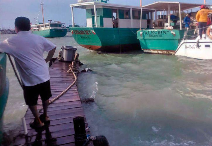 La Marina Armada de México busca tres embarcaciones que no han llegado a puerto, tras la tromba de este jueves, provocada por la entrada del frente frío número 45. (Gerardo Keb/SIPSE)