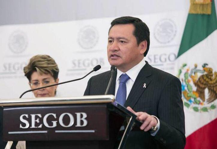 El secretario de Gobernación, Miguel Ángel Osorio Chong, dijo que en breve se anunciará quién será el encargado de la unidad nacional antisecuestros. (Notimex/Archivo)