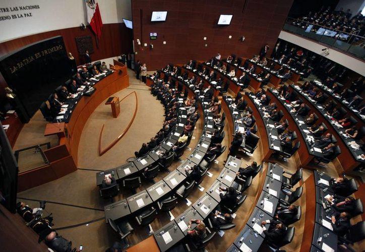 Jorge Luis Preciado, coordinador del PAN en el Senado indicó que avanzar en la reforma política es condición para que salgan todas las demás iniciativas pendientes. (Archivo Notimex)