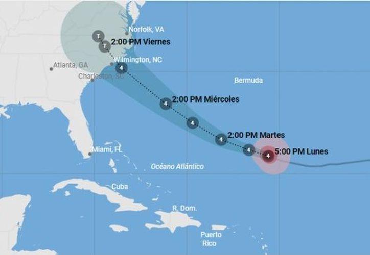 Los pronósticos señalan que la fuerza de vientos de tormenta tropical ya comenzaron a sentirse en esa región tan temprano como el miércoles en la noche. (Univisión)