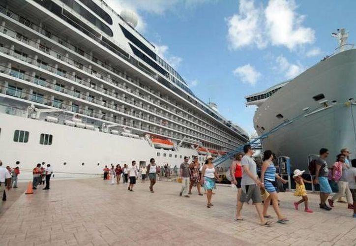 Se espera la llegada de 16 cruceros a Cozumel y 1 a Mahahual. (Contexto/ SIPSE)