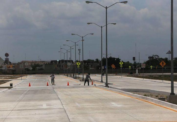 Desde el año pasado se construyeron avenidas y calles de concreto hidráulico en la zona. (Mauricio Palos/SIPSE)