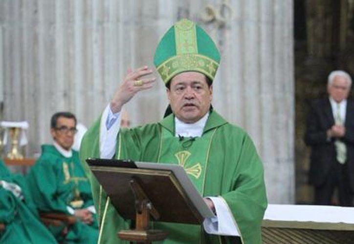 El cardenal de México destacó la visita de Su Santidad a México durante su homilía dominical. (Notimex)