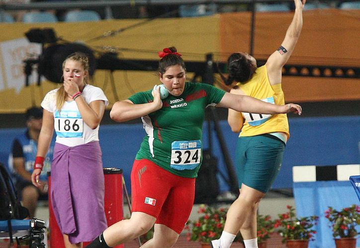 La mexicana lanzadora de bala Fernanda Orozco ganó medalla de plata en los Juegos Olímpicos de la Juventud que se celebran en Nanjing, China. (conade.gob.mx)