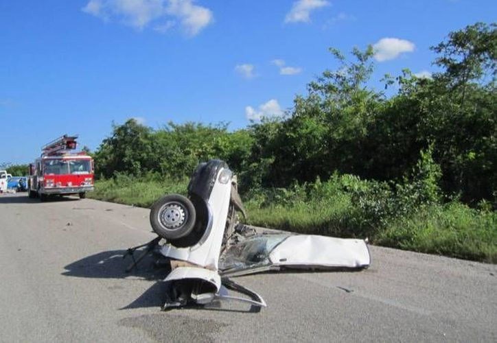 El reporte de la Smspyt señaló que el total de accidentes vehiculares que se han registrado en este período del 2014 es de tres mil 278. (Redacción/SIPSE)