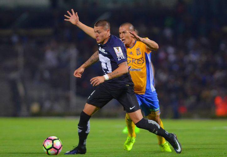 La última victoria de Pumas fue la que consiguió ante el conjunto del Necaxa, el pasado 29 de enero. En la foto, acciones del Pumas Vs Tigres de Concachampions.(Jam media)