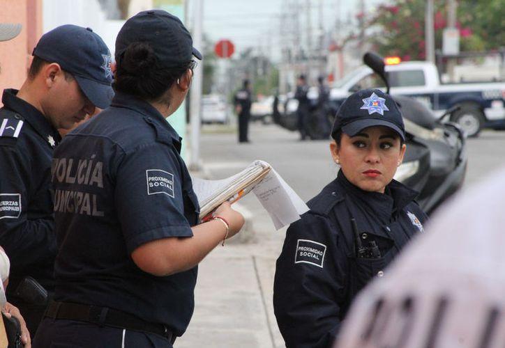 Los únicos municipios que rompieron la tendencia, fueron Cozumel y Benito Juárez, con 8% y 22% de combate directo a delitos. (Joel Zamora/SIPSE)