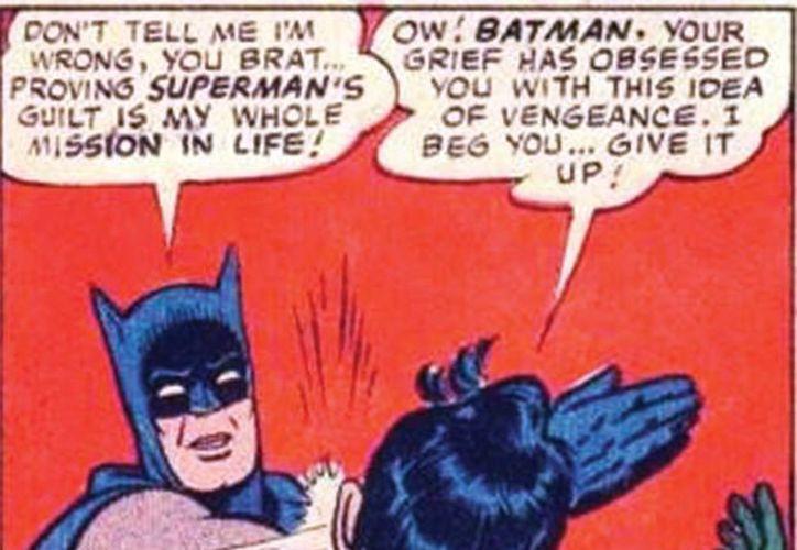 El meme de 'Batman slapping Robin' es uno de los más populares en las redes sociales. El primero fue publicado en 2008 aunque la imagen original tiene más de cinco décadas. (Excelsior)