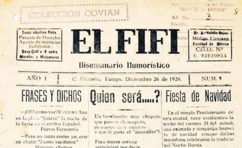 """En la biblioteca """"Marte R. Gomez"""" son resguardados los ejemplares de """"El Fifí"""" del 19 de diciembre de 1920. (Foto: El Sol de México)"""