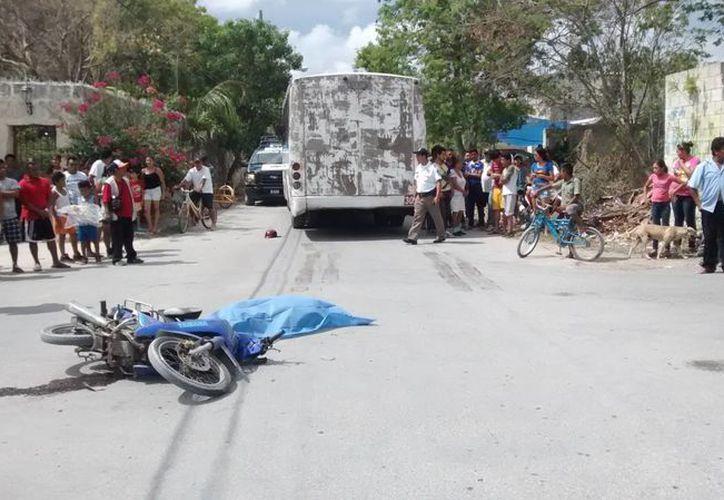 Fue detenido el conductor de la pesada unidad. (Archivo/SIPSE)