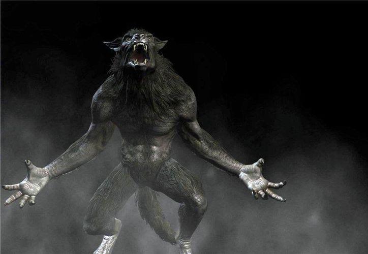 Representación de la bestia con facciones caninas, tal como la habría visto la mujer que durante varias noches la vio 'desfilar' frente a su casa, en Mérida. (Jorge Moreno/SIPSE)