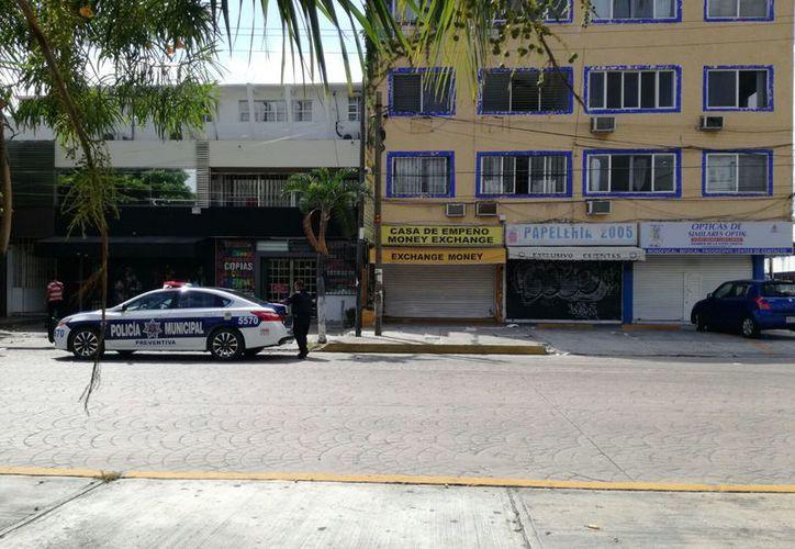 La casa de empeño se ubica en el Mercado 28. (Eric Galindo/SIPSE)