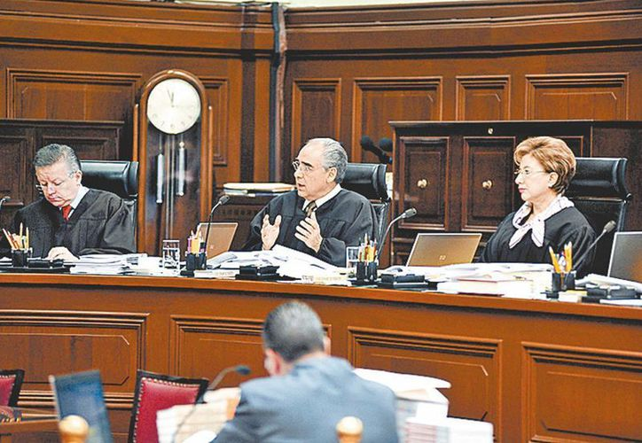 Los ministros de la corte. (Milenio)