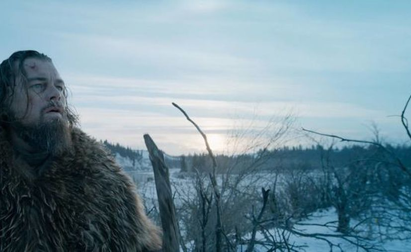 La película 'The Revenant', de Alejandro González Iñárritu, tiene 12 nominaciones a los premios Oscar 2016. En la imagen, una escena de la cinta protagonizada por Leonardo Di Caprio, quien puja por el reconocimiento como mejor actor. (AP)