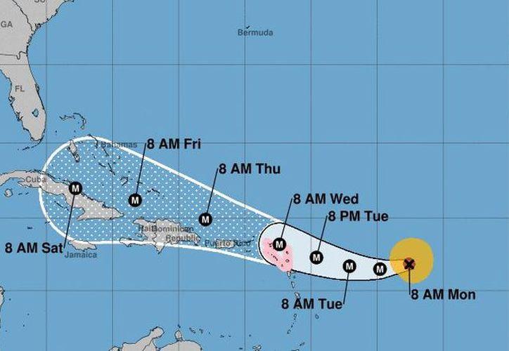 Se espera que las ráfagas de Irma afecten al país, en especial la costa norte, el jueves. (NOAA)