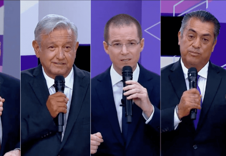 Candidatos por la presidencia de México.
