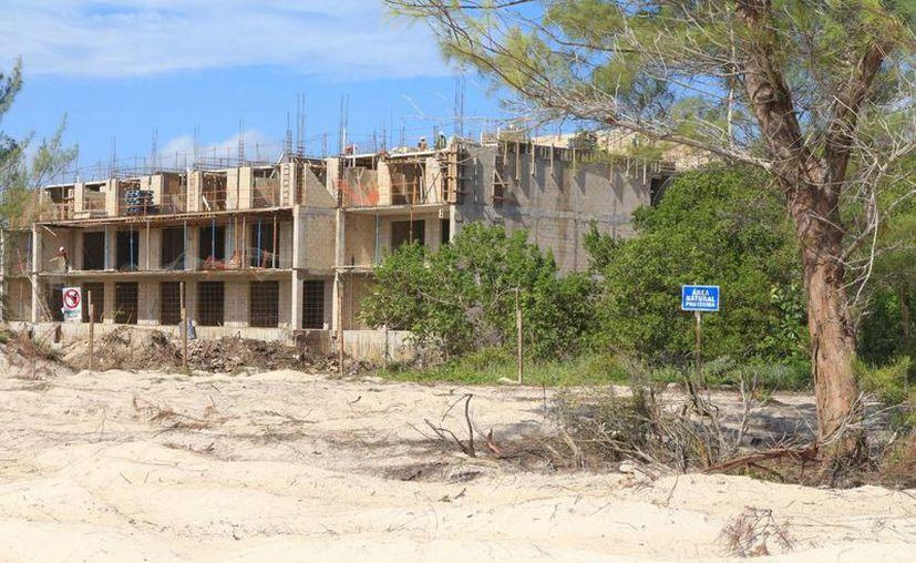 Vecinos acusan que la construcción del hotel H10 Montecarlo lesiona daña al manglar; autoridades lo niegan. (Adrián Barreto/SIPSE)