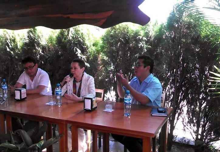 La doctora Galina Ershova habló de las actividades que realiza el Centro de Epigrafía Maya 'Yuri Knorosov'. (Milenio Novedades)