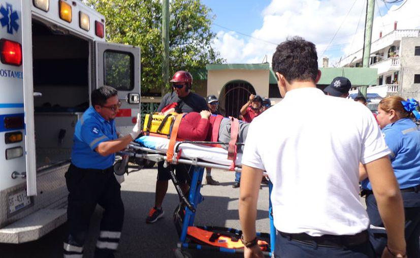 La chica de 18 años terminó con la pierna lesionada, con posible fractura. (Foto: Redacción)