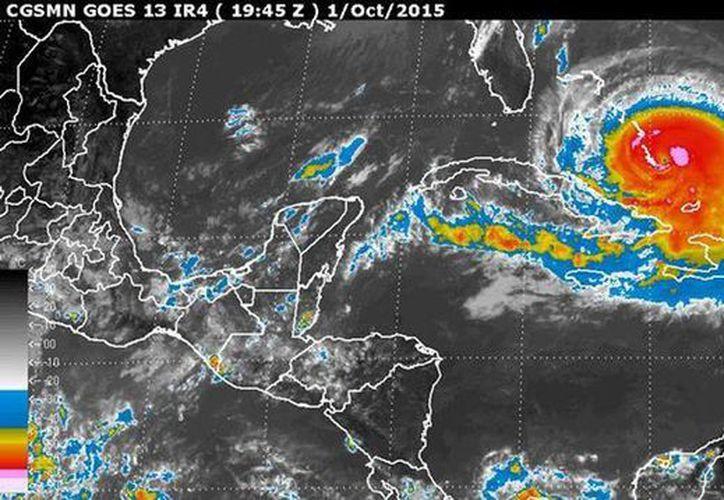 El huracán Joaquín impactará por 'un prolongado periodo' la cadena de islas del Atlántico, cercana al estado norteamericano de Florida. (smn.cna.gob.mx)