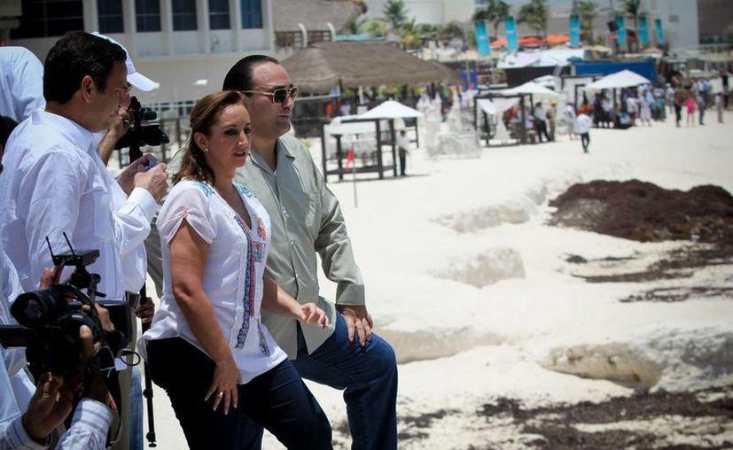 Las playas de Cancún fueron recorridas por las autoridades. (Cortesía/Notimex)