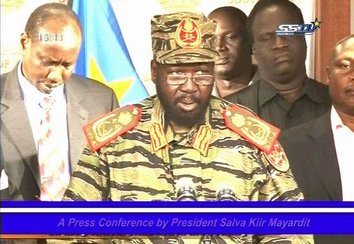 El presidente de Sudán, Salva Kir, acusó a su rival político, el exvicepresidente Riak Mashar, de orquestar el golpe de Estado. (Agencias)