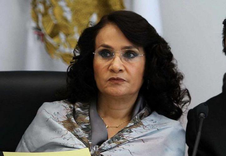 """En el marco de la salida del PRD del Pacto por México, Dolores Padierna dijo que si PRI y PAN insisten en modificar la Constitución en la Reforma Energética, """"el PRD no estará con ellos nunca más"""". (Notimex/Foto de archivo)"""