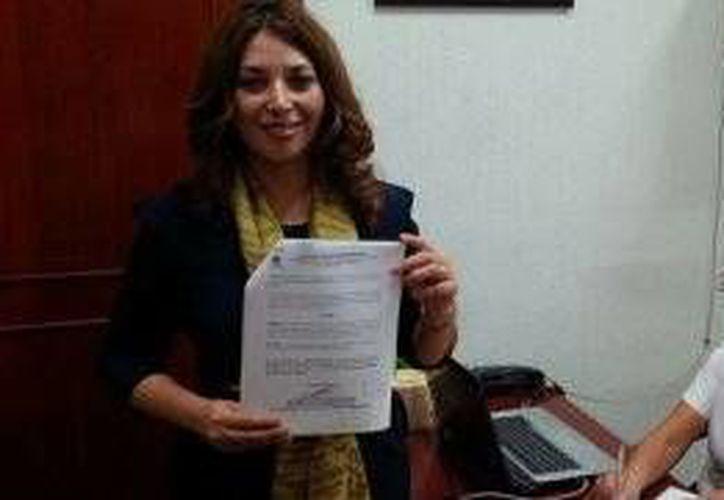 La diputada local presentó un punto de acuerdo de urgente resolución. (Raúl Balam/SIPSE)