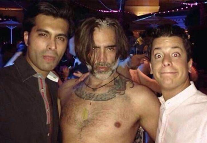 El cantante asistió a una fiesta del empresario Alejandro Valladares, en un hotel conocido de Las Vegas. (Foto tomada de Milenio Digital)
