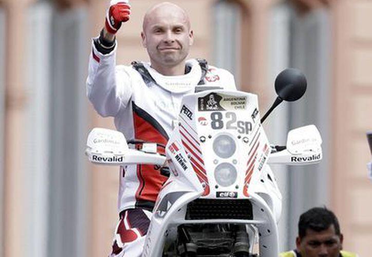 Era la primera vez que Michal Henrick participaba en el Rally. (Foto: AP)