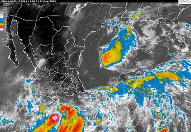 La Península de Yucatán tendrá cielo medio nublado a nublado; 80 por ciento de probabilidad de lluvias fuertes con tormentas eléctricas en Yucatán, Campeche y Quintana Roo. (smn.conagua.gob.mx)
