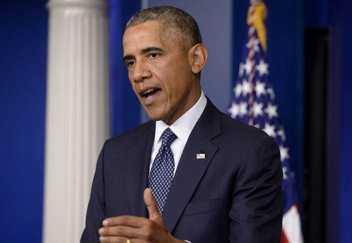 El presidente estadounidense, Barack Obama, reiteró su preocupación por el aumento de tropas rusas cerca de la frontera con Ucrania . (EFE)
