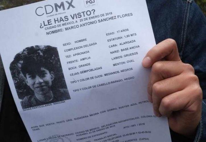 Un centenar de policías capitalinos continúan con la búsqueda del joven. (excelsior.com)
