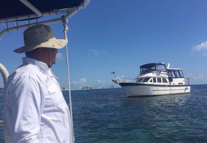 La embarcación quedará bajo resguardo de la Capitanía de Puerto y la Comisión Nacional de Áreas Naturales Protegidas. (Redacción/SIPSE)