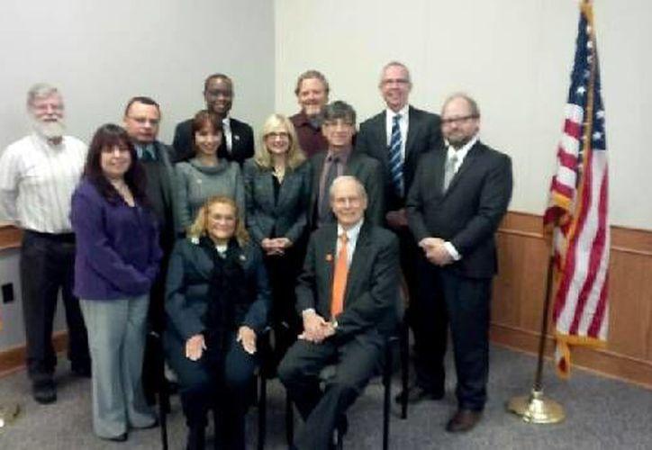 Académicos de la Uqroo y el Buffalo State College posaron para la foto del recuerdo. (Cortesía/SIPSE)