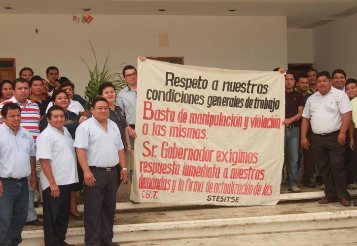 """Los quejosos no pudieron aclarar sus planteamientos concretos, ni en que sentido sus """"derechos sindicales"""" han sido lacerados. (Manuel Salazar/SIPSE)"""