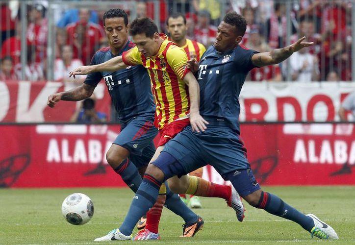 Messi fue una de las pocas estrellas del Barcelona que jugó el duelo amistoso contra el Bayern este miércoles. (Agencias)