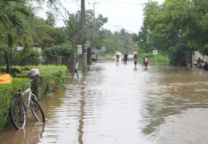 Se registraron zonas inundadas debido a las precipitaciones pluviales. (Raúl Balam/SIPSE)