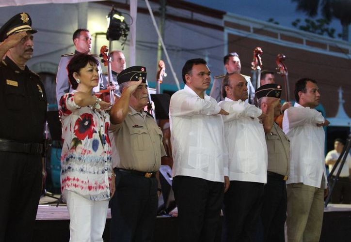 Aspecto de la ceremonia en Espita. (Cortesía)