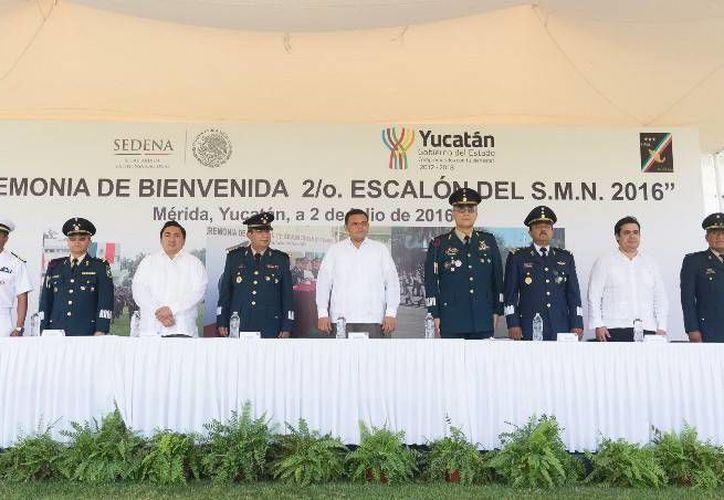 Se inició, con un ceremonia oficial, el adiestramiento de los jóvenes del Servicio Militar, en Yucatán. (Oficial)